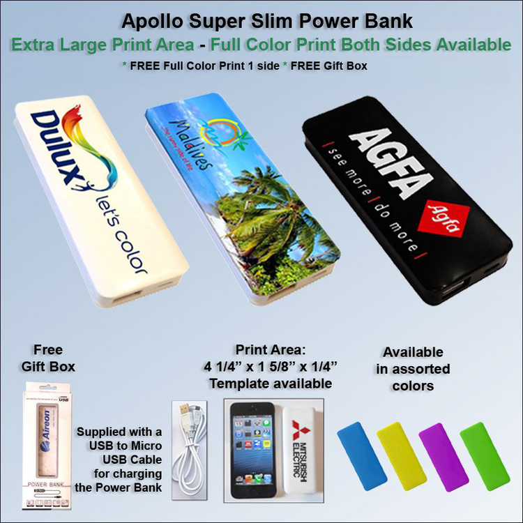 Apollo Super Slim Power Bank 2200 mAh