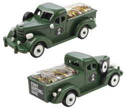 Cashews in Green Pickup Truck