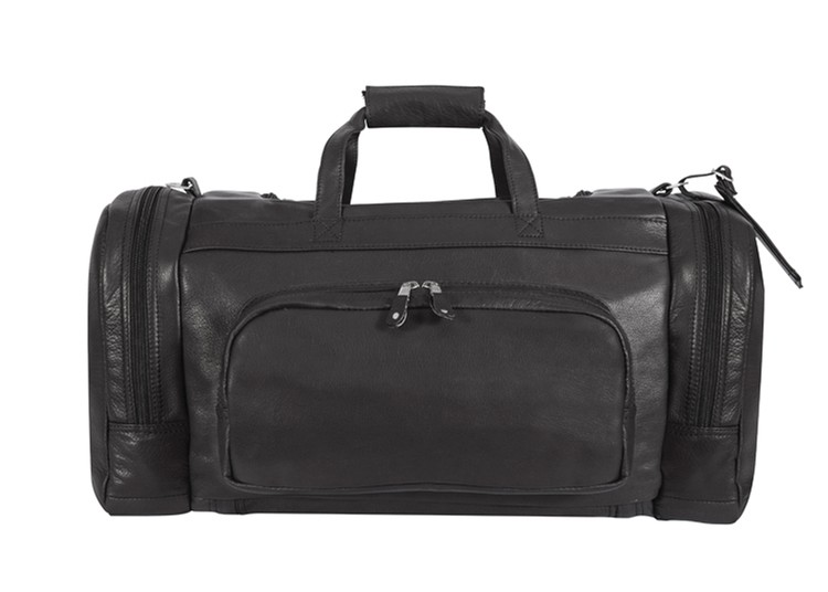 Corral Canyon Leather Duffel/Backpack - Black