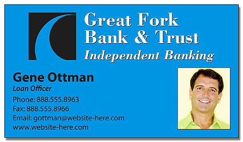 Financial Services Business Card Magnet - 3.5x2 (Square Corners) - 25 mil.