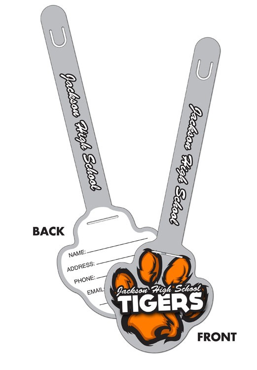 Plastic Paw Print I.D. Tags UV-Coated (1S) - 3.25x9.5 - 10 pt