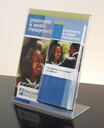 Countertop Sign Holder w/ 4-1/8w brochure pocket