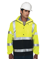 3-in-1 system waterproof safety parka. ANSI Class 3. - INDUSTRY