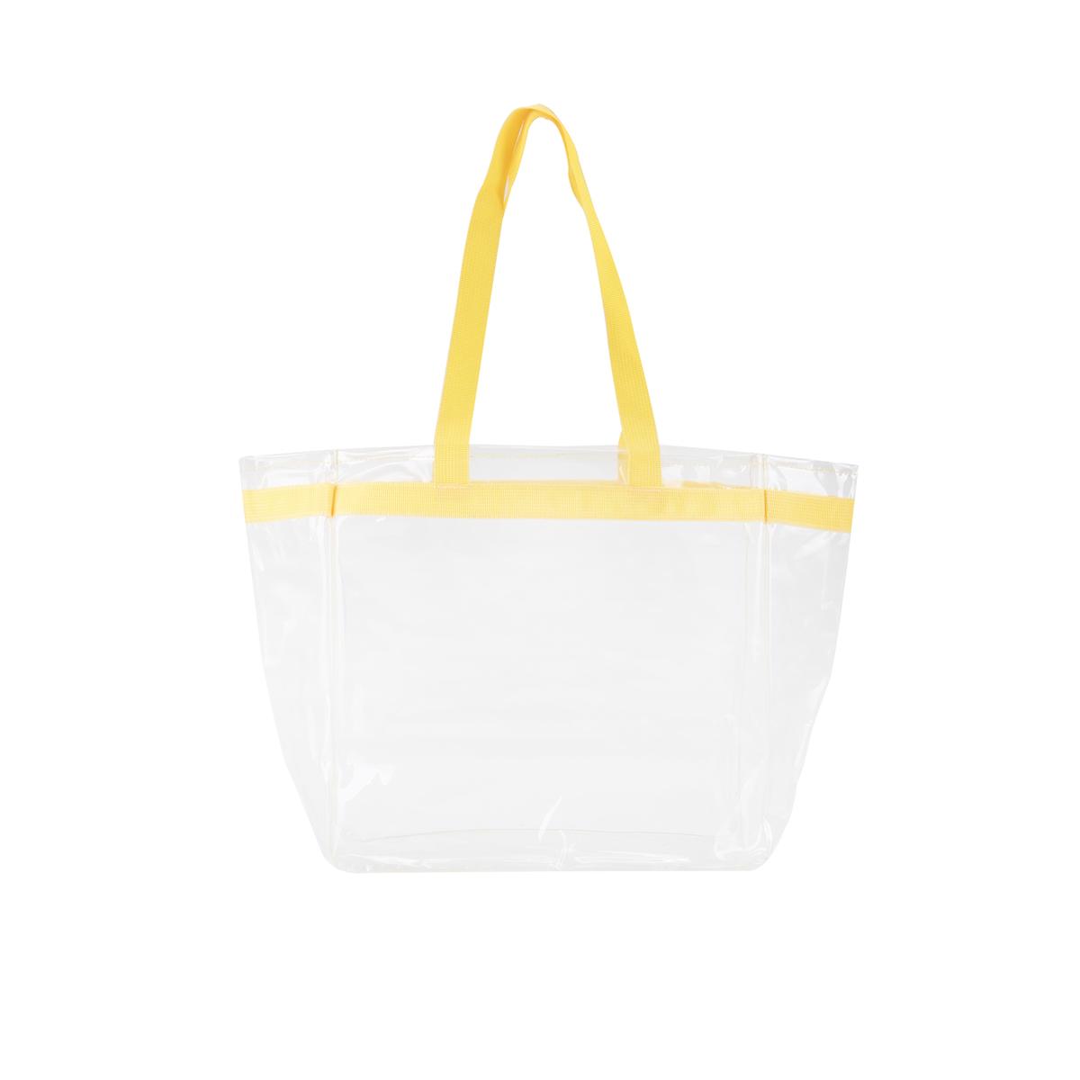 Color Handles Clear Plastic Tote Bags 125237 Custom