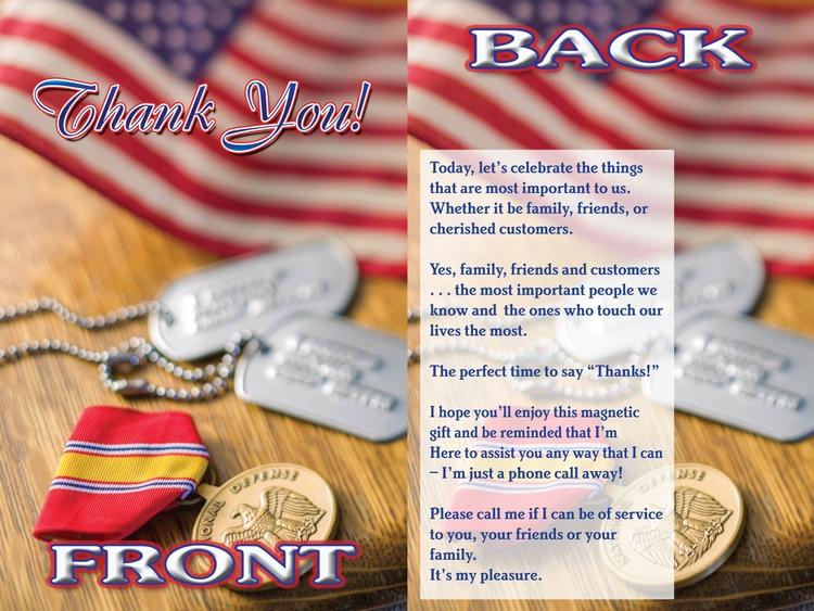 EZ Inserts – Patriotic Thank You