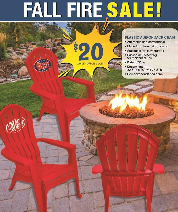 adirondack chair custom logo printed