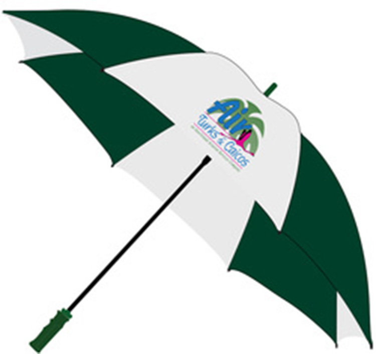 PRO 62 GOLF UMBRELLA WITH FIBERGLASS SHAFT WITH FULL COLOR IMPRINT