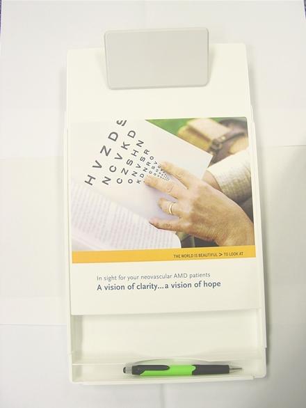 Letter Size Clipboard w/ Storage Box & Square Plastic Clip