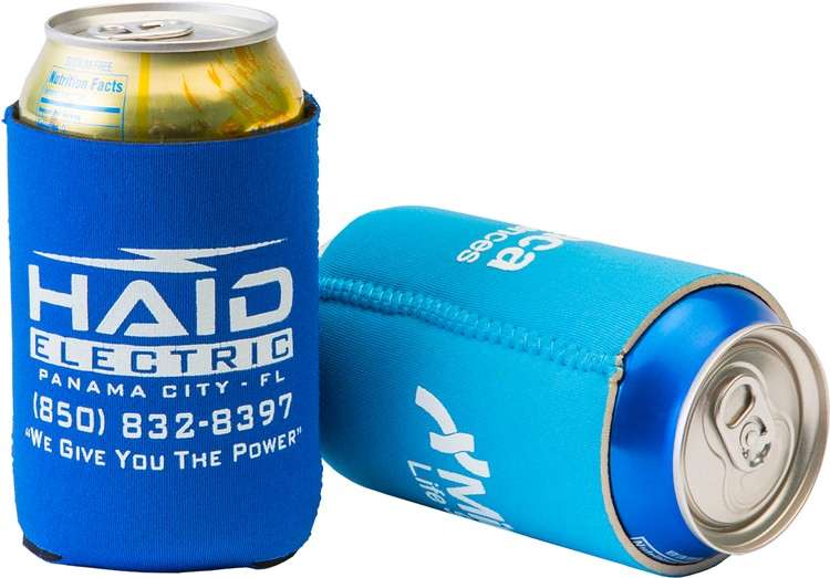 FoamZone Neoprene Collapsible Can Cooler - Neoprene Can Cooler