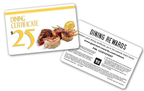 100 Restaurant Gift Card - DINING-2-100 | Starline Promotions