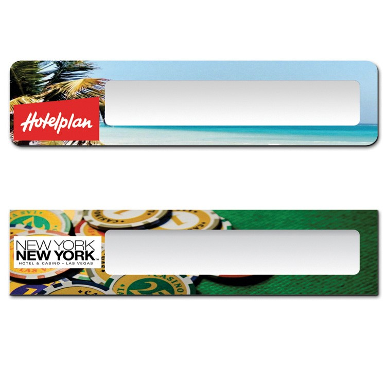 The Plato full color reusable name plate. 2x8