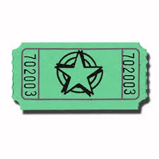 Single Tickets - STOCK STAR IMPRINT No Logo included. 2000 roll