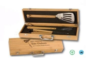 Bamboo 3 Piece BBQ Gift Set