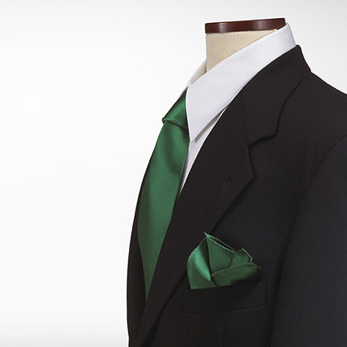 Kelly Green Polyester Pocket Square