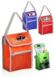 Insulated Lunch Bags With Pocket - 8 W x 11H