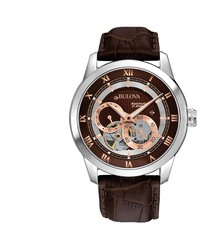 Bulova Men's BVA Series Automatic Watch with Brown Dial