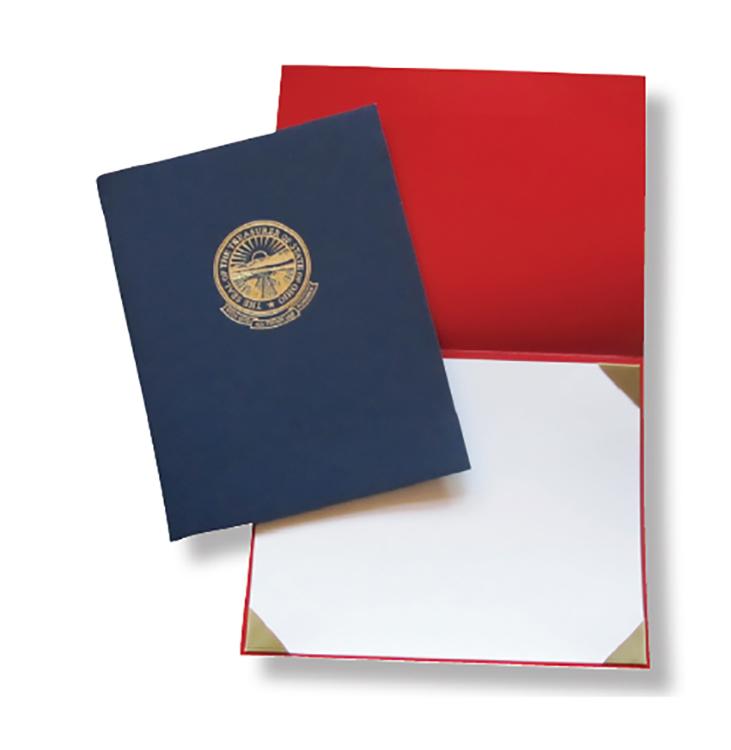 Deluxe Leatherette Certificate Holder - CERT-EC