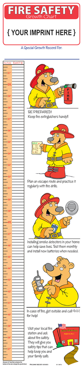 GROWTH CHART - Fire Safety Children's Growth Chart