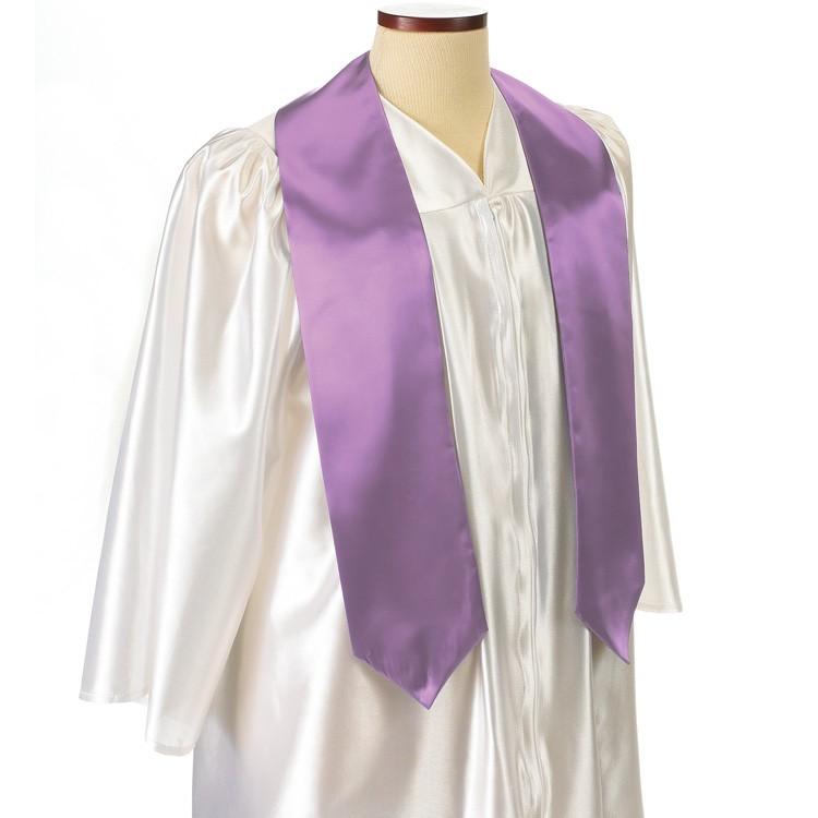 Lavender Polyester Satin Graduation Sash / Stole