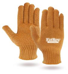 Orange Knit Freezer Gloves