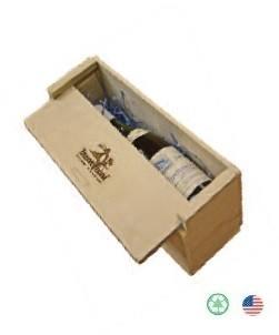 13 x 4 x 4 Slide Top Wine Box