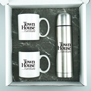 Thermos/Ceramic Mug Gift Set