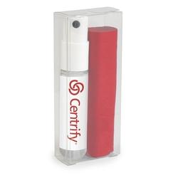 Mini Lens Cleaner Travel Kit, 4 x 7 Microfiber Cloth and 0.34 fl oz Lens Cleaner Spray