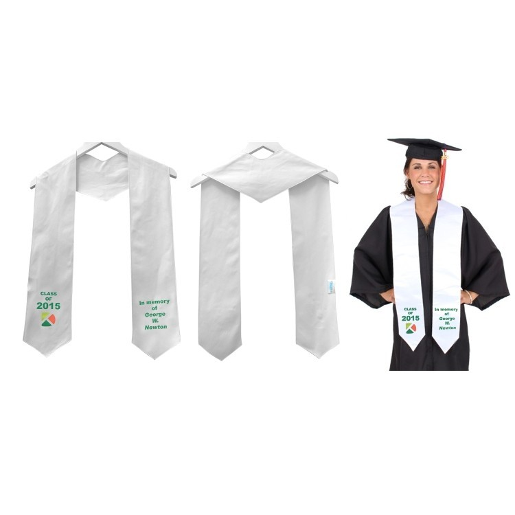 Silken Graduation Honor Stole, Printed