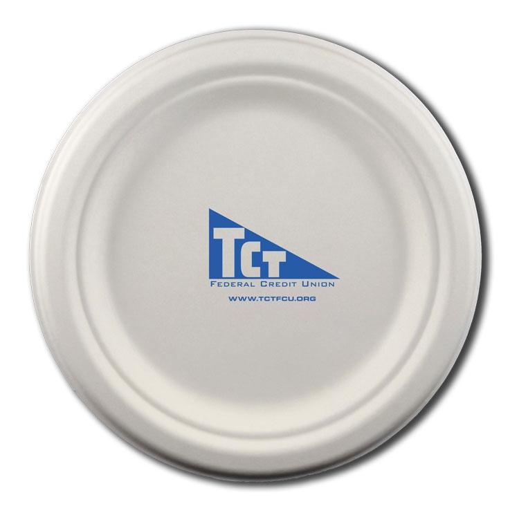 6.75  Round Eco-Friendly Paper Plate #3070-675-CP-QS Quick Ship  sc 1 st  Admatch Regal & 6.75