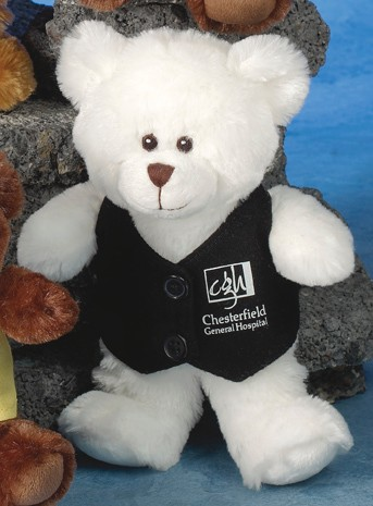 Smitty Bears (TM) 10 stuffed bear with embroidered eyes