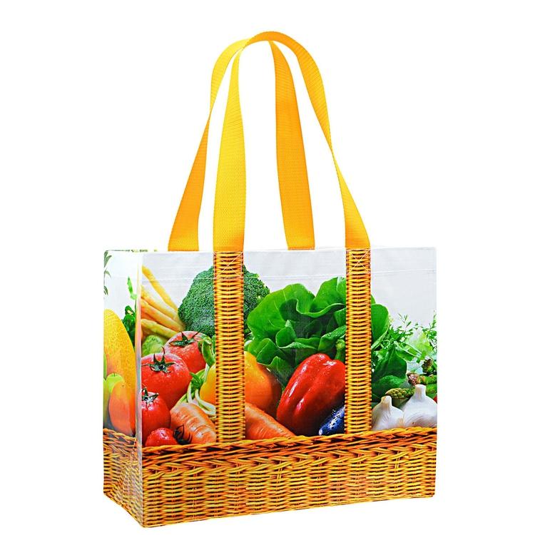 Custom Full Color Laminated Grocery Tote Bag