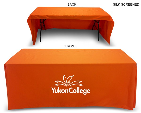 Table throw for 6' table (Open Back) - Table cloth