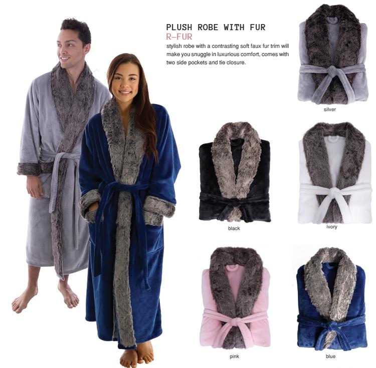 Plush Robe With Fur