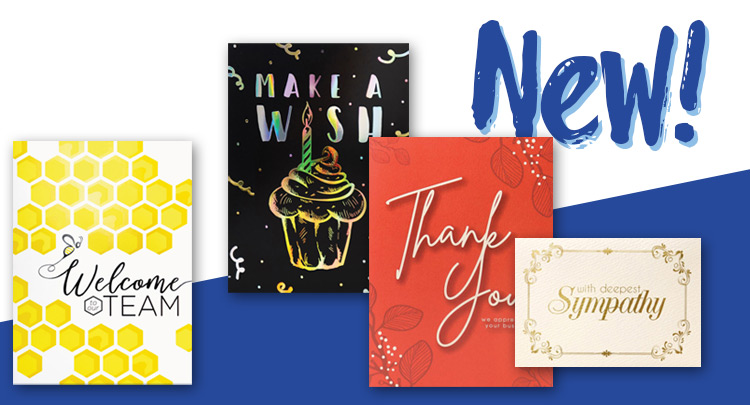 New greeting cards from Warwick