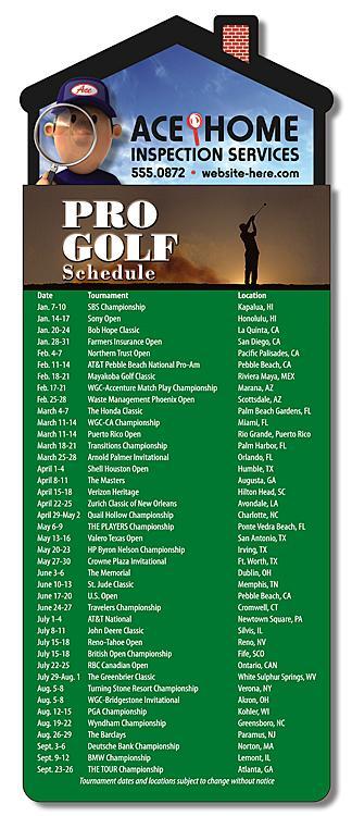 Magna-Card House Shape Magnet - Golf Schedule (3.5x9)