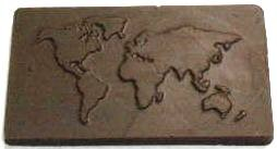 WORLD MAP CHOCOLATE BUSINESS CARD