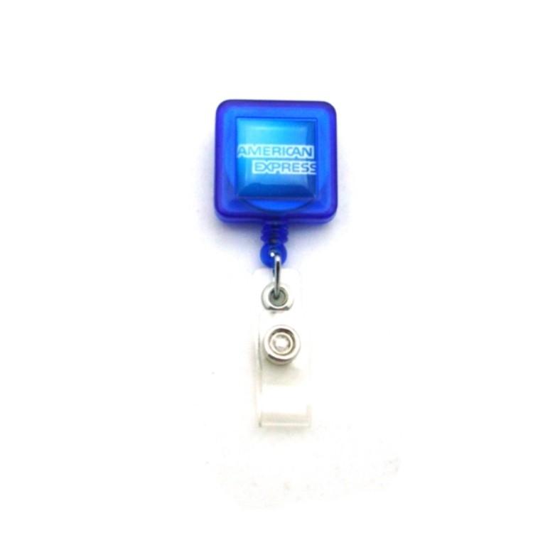 4-Color Process Square Plastic Badge Reel
