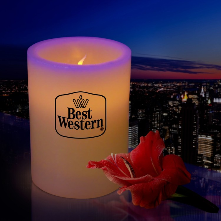 Custom 4 Wax Flameless Flickering LED Pillar Candle