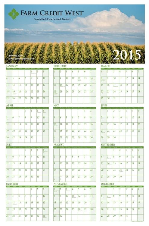 Vertical Month Block Wall Calendar