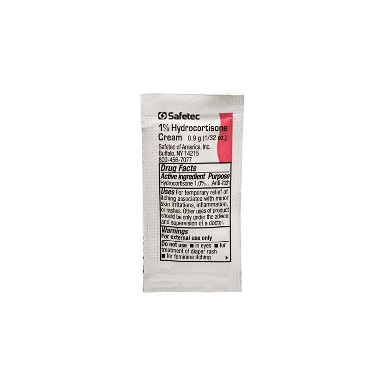 Safetec 1% Hydrocortisone Cream Packet