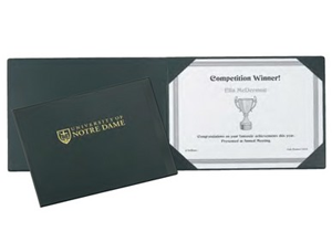 Browse custom branded certificate / diploma folders.