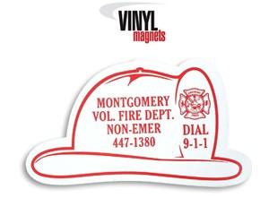 Stock Shaped Magnets - Fire Helmet