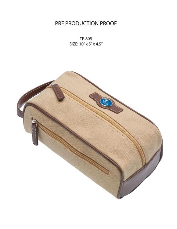 Leather Trimmed Travel Shave Kit
