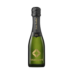 Etched Mini Nicolas Feuillatte Brut with 1 Color Fill