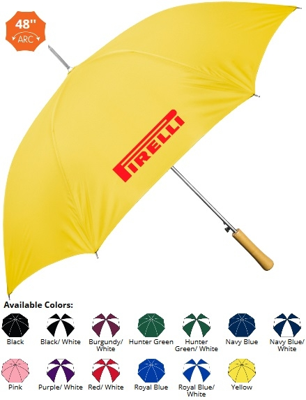 48 Inch Auto Opening Wood Handle Umbrella SALE - NOW ONLY $6.99 Until June 30th