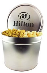 2 Gallon Popcorn Tins- Trio (Butter, Cheddar, Caramel)