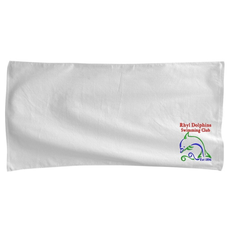Blank White Beach Towel Premium Velour Beach Towel White