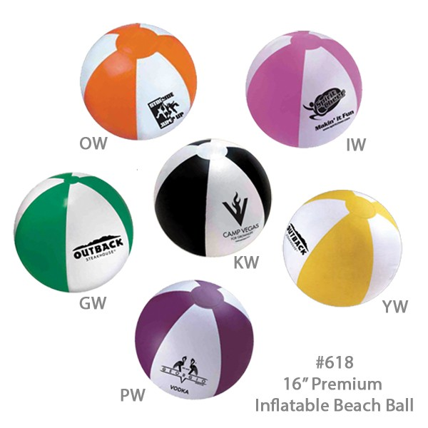 Large 16 Official Size Inflatable Beach Ball - All Colors