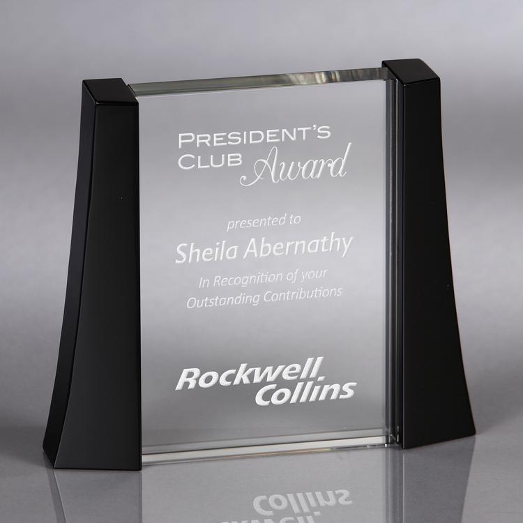 Howard Miller Exalt - Large crystal award
