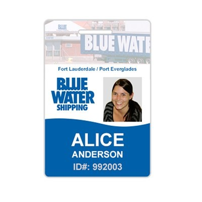 Photo ID Identification Name Badge- Fast - USA Made Tags - Free Shipping